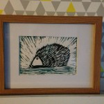 Hedgehog Lino Cut
