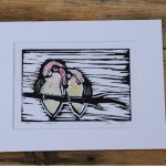 Love Birds Lino Print