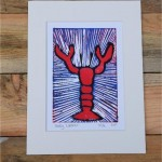 Lobster Lino Print
