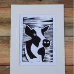 Cow LIno Print