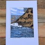Ramsey Island Lino Print