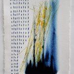 Blue Stitch Drypoint