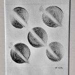 Sphere Drypoint print
